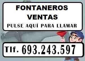 Fontaneros Ventas Madrid Urgentes