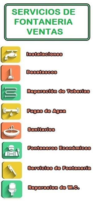 servicios de fontaneria en Ventas