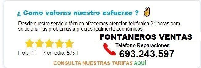 Fontanero Ventas precio